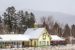 Winter scene in the White Mountains, Lincoln, New Hampshire, USA