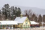 Winter scene in the White Mountains, Lincoln, New Hampshire, USA