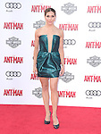"""Allison Holker attends The Premiere Of Marvel's """"Ant-Man"""" held at The Dolby Theatre  in Hollywood, California on June 29,2015                                                                               © 2015 Hollywood Press Agency"""