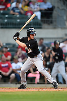 San Antonio Missions shortstop Brian Bixler (37) at bat during a game against the Arkansas Travelers on May 24, 2014 at Dickey-Stephens Park in Little Rock, Arkansas.  Arkansas defeated San Antonio 4-2.  (Mike Janes/Four Seam Images)
