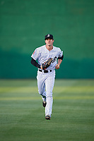Jackson Generals center fielder Evan Marzilli (45) jogs back to the dugout during a game against the Chattanooga Lookouts on April 27, 2017 at The Ballpark at Jackson in Jackson, Tennessee.  Chattanooga defeated Jackson 5-4.  (Mike Janes/Four Seam Images)