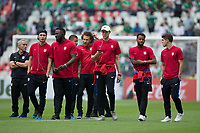 Mexico City, Mexico - Sunday June 11, 2017: USMNT during a 2018 FIFA World Cup Qualifying Final Round match between the men's national teams of the United States (USA) and Mexico (MEX) at Azteca Stadium.