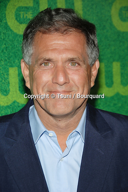 Les Moonves  arriving at the  CW television Critic Assocoation Summer Party at the Ritz Carlton Pasadena Los Angeles. July 17, 2006.<br /> eye contact<br /> headshot