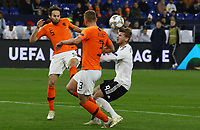 Daley Blind (Niederlande), Matthijs de Ligt (Niederlande, Netherlands) verteidigen gegen Timo Werner (Deutschland Germany) - 19.11.2018: Deutschland vs. Niederlande, 6. Spieltag UEFA Nations League Gruppe A, DISCLAIMER: DFB regulations prohibit any use of photographs as image sequences and/or quasi-video.