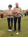 Captain PJ Campbell and Lady Captain Irene Kirwan pictured at the Captain's drive in at Seapoint golf club. Photo:Colin Bell/pressphotos.ie
