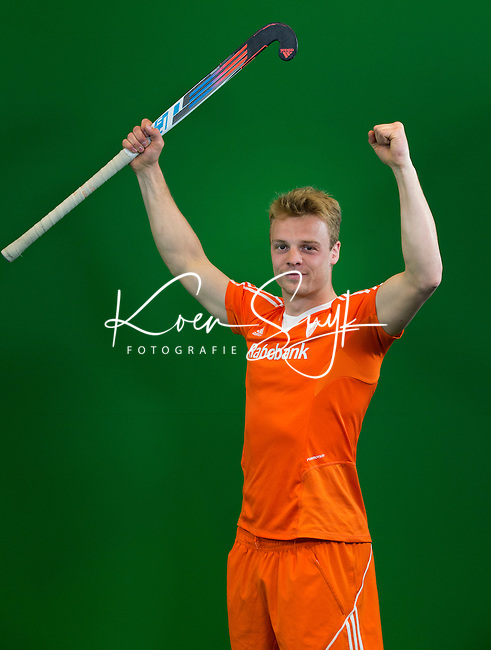 DEN BOSCH - MINK VAN DER WEERDEN .  . Nederlands Hockeyteam  voor nieuwe platform Hockey.nl.    FOTO KOEN SUYK