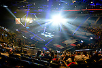 British Championships Seniors 2015. Mens and Womens All-Around Competition. Liverpool Echo Arena. A wide shot of Liverpool Echo Arena.
