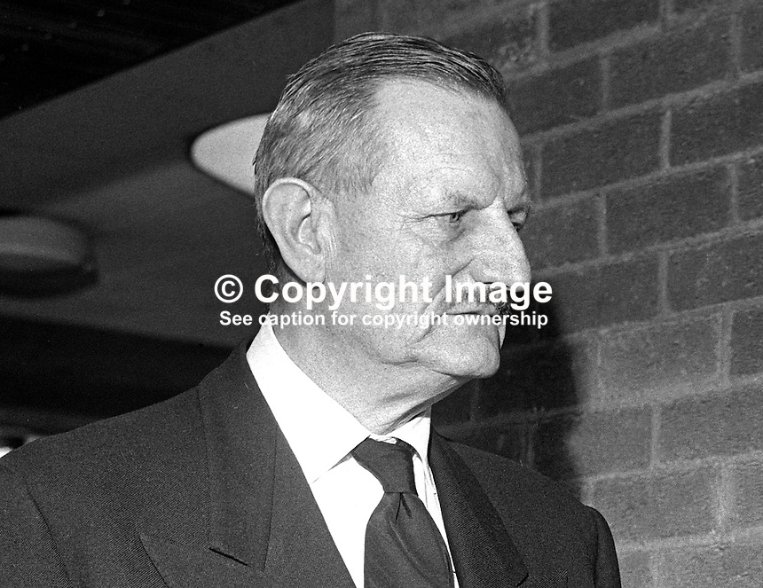 Sir Tyrone Guthrie, actor, theatrical manager, Chancellor of Queen's University, Belfast, 13th March 1968. 1968031301013b ..Copyright Image from Victor Patterson, 54 Dorchester Park, Belfast, United Kingdom, UK...For my Terms and Conditions of Use go to http://www.victorpatterson.com/Victor_Patterson/Terms_%26_Conditions.html