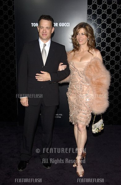 Actor TOM HANKS & wife actress RITA WILSON at the Rodeo Drive Walk of Style Gala honoring Gucci's Tom Ford..March 28, 2004