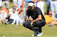 Mike Lorenzo-Vera (FRA) on the 5th green during Sunday's Final Round 4 of the 2018 Omega European Masters, held at the Golf Club Crans-Sur-Sierre, Crans Montana, Switzerland. 9th September 2018.<br /> Picture: Eoin Clarke | Golffile<br /> <br /> <br /> All photos usage must carry mandatory copyright credit (© Golffile | Eoin Clarke)