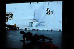 TRANSE<br /> <br /> Avec le film de Jean Rouch &quot;Mammy Water&quot; (1956)<br /> Conception et danse : Danielle Gabou<br /> Coordination : Jean Yves Camus<br /> Chor&eacute;graphie : Julien Ficely<br /> Musique : Marco Marini<br /> Vid&eacute;o, lumi&egrave;res : Olivier Bauer<br /> Costumes : Rachel Brayer<br /> Lieu : Th&eacute;&acirc;tre de Chaillot<br /> Ville : Paris<br /> Date : 02/11/2013<br /> &copy; Laurent Paillier / photosdedanse.com