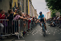 Alejandro Valverde (ESP/Movistar) at the Team presentation in La Roche-sur-Yon<br /> <br /> Le Grand Départ 2018<br /> 105th Tour de France 2018<br /> ©kramon