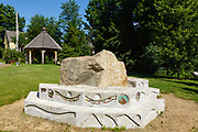A piece of Sawyer Rock in a small town park in Bartlett, New Hampshire USA.