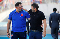 4th February 2020; National Stadium of Chile, Santiago, Chile; Libertadores Cup, Universidade de Chile versus Internacional; Universidad de Chile manager Hernán Caputto and Internacional manager Eduardo Coudet