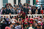 LOUISVILLE, KY - MAY 5:  Justify, trained by Bob Baffert, ridden by Mike Smith and owned by WInstar Farm and China Horse Club, pose for the photo after capturing the 144th running of the Kentucky Derby at Churchill Downs on May 5, 2018 in Louisville, Kentucky. (Photo by Eric Patterson/Eclipse Sportswire/Getty Images)