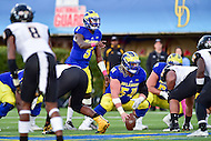 Newark, DE - OCT 29, 2016: Delaware Fightin Blue Hens quarterback Joe Walker (3) yells out an audible during game between Towson and Delaware at Delaware Stadium Tubby Raymond Field in Newark, DE. (Photo by Phil Peters/Media Images International)