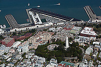 aerial photograph Coit Tower Pier 29 North Beach San Francisco, California