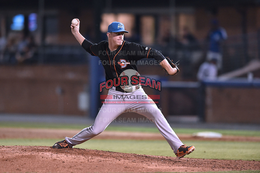 Delmarva Shorebirds pitcher Garrett Cortright (10) delivers a pitch during the South Atlantic League All Star Game on June 23, 2015 in Asheville, North Carolina. The North Division defeated the South 7-5(Tony Farlow/Four Seam Images)