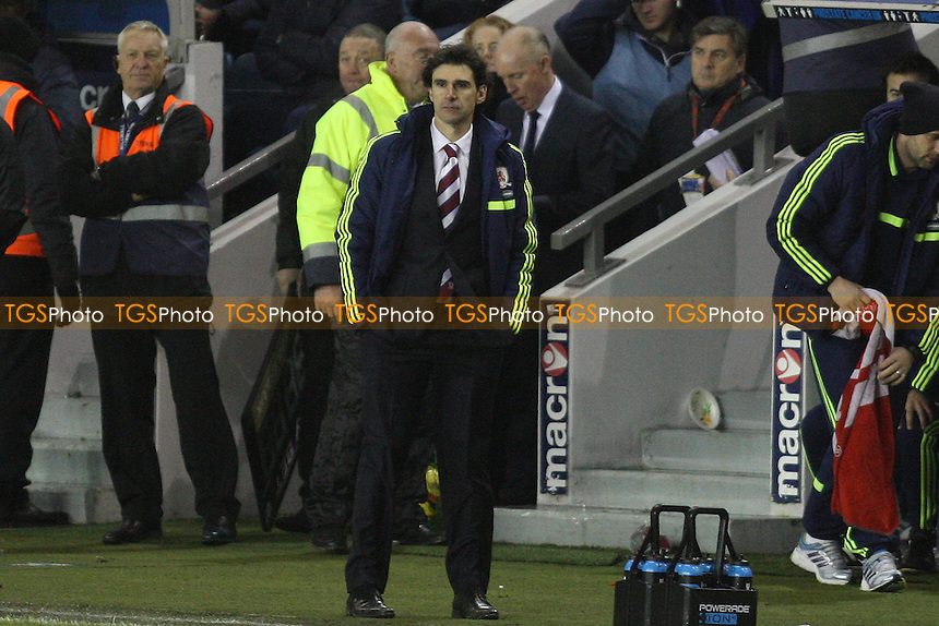 Aitor Karanka manager of Middlesbrough - Millwall vs Middlesbrough - Sky Bet Championship Football at the New Den, Bermondsey, London - 21/12/13 - MANDATORY CREDIT: George Phillipou/TGSPHOTO - Self billing applies where appropriate - 0845 094 6026 - contact@tgsphoto.co.uk - NO UNPAID USE