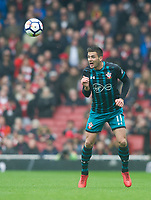Southampton's Dusan Tadic during the EPL - Premier League match between Arsenal and Southampton at the Emirates Stadium, London, England on 8 April 2018. Photo by Andrew Aleksiejczuk / PRiME Media Images.