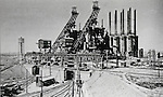 Steel manufacturing plant in Manchuria during the Showa period. (Photo by Kingendai/AFLO)