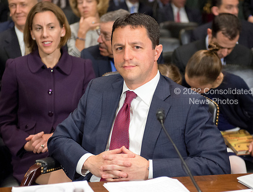 Steven A. Engel waits to begin his testimony before the United States Senate Committee on the Judiciary on his nomination to be an Assistant Attorney General, Office of Legal Counsel, US Department of Justice, on Capitol Hill in Washington, DC on Wednesday, May 10, 2017.<br /> Credit: Ron Sachs / CNP