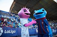 27th October 2019; Estadi Cuitat de Valencia, Valencia, Spain; La Liga Football, Levante versus Espanyol; Levante mascots cheering with their supporters during the half time - Editorial Use