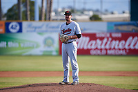 Visalia Rawhide starting pitcher Cole Stapler (40) during a California League game against the San Jose Giants on April 13, 2019 at San Jose Municipal Stadium in San Jose, California. Visalia defeated San Jose 4-2. (Zachary Lucy/Four Seam Images)