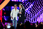 CORAL GABLES, FL - APRIL 28: Marc Anthony and Marco Antonio Solis onstage at the Billboard Latin Music Awards at the BanKUnited Center on Thursday April 28, 2016 in Coral Gables, Florida. ( Photo by Johnny Louis / jlnphotography.com )