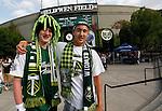 PORTLAND, OR - APR 7: Portland Timbers fans at JELD-WEN Field on July 14, 2012.  (Steve Dipaola/Portland Timbers)