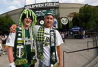 PORTLAND, OR - APR 7: Portland Timbers fans at JELD-WEN Field on July 14, 2012.  (Steve Dipaola/Portland Timbers)