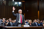 "United States Attorney General Jeff Sessions is sworn-in to testify before the US Senate Select Committee on Intelligence to  ""examine certain intelligence matters relating to the 2016 United States election"" on Capitol Hill in Washington, DC on Tuesday, June 13, 2017.  In his prepared statement Attorney General Sessions said it was an ""appalling and detestable lie"" to accuse him of colluding with the Russians.<br /> Credit: Ron Sachs / CNP<br /> (RESTRICTION: NO New York or New Jersey Newspapers or newspapers within a 75 mile radius of New York City)"