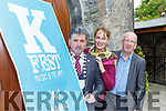Kate Kennelly and Mike Dowd Launching the K fest Music and Arts festival which will be held on the June Bank Holiday weekend  in Killorglin on Thirsday evening