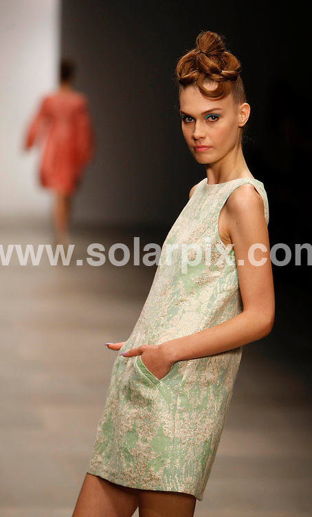 **ALL ROUND PICTURES FROM SOLARPIX.COM**                                             **NO UK NEWSPAPER PUBLICATION**.**UK MAGAZINE & SUPPLEMENT PUBLICATION ONLY** AND NO PUBLICATION IN AUSTRALIA, BELGIUM, FRANCE, GERMANY, ITALY, SCANDINAVIA AND USA**                                                                                London Fashion Week. Paul Costelloe Runway SS 2012 at Somerset House in London on 16 September 2011                                                                      .This pic:    Paul Costelloe Runway                                                                                          JOB REF:    13952    SFE      DATE:   16.09.11                                                         **MUST CREDIT SOLARPIX.COM OR DOUBLE FEE WILL BE CHARGED**                                                                      **MUST AGREE FEE BEFORE ONLINE USAGE**                               **CALL US ON: +34 952 811 768 or LOW RATE FROM UK 0844 617 7637**