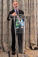 RIO DE JANEIRO; RJ, 19 DE FEVEREIRO 2013 - ENCONTRO BRASIL X ARGENTINA - Antonio Patriota Ministro de Relacoes Exteriores durante encontro com o chanceler da Argentina Héctor Timerman no Hotel Copacabana Palace na tarde desta terca-feira na cidade do Rio de Janeiro FOTO: NÉSTOR J. BEREMBLUM - BRAZIL PHOTO PRESS.