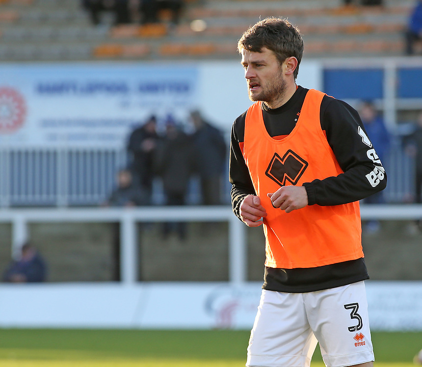 Blackpool's Andy Taylor during the pre-match warm-up <br /> <br /> Photographer David Shipman/CameraSport<br /> <br /> The EFL Sky Bet League Two - Hartlepool United v Blackpool - Monday 26th December 2016 - Northern Gas and Power Stadium - Hartlepool<br /> <br /> World Copyright &copy; 2016 CameraSport. All rights reserved. 43 Linden Ave. Countesthorpe. Leicester. England. LE8 5PG - Tel: +44 (0) 116 277 4147 - admin@camerasport.com - www.camerasport.com