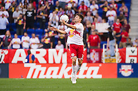 Heath Pearce (3) of the New York Red Bulls. The New York Red Bulls and CD Chivas USA played to a 1-1 tie during a Major League Soccer (MLS) match at Red Bull Arena in Harrison, NJ, on May 23, 2012.