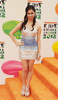 LOS ANGELES, CA - MARCH 31: Ashley Argota arrives at the 2012 Nickelodeon Kids' Choice Awards at Galen Center on March 31, 2012 in Los Angeles, California.