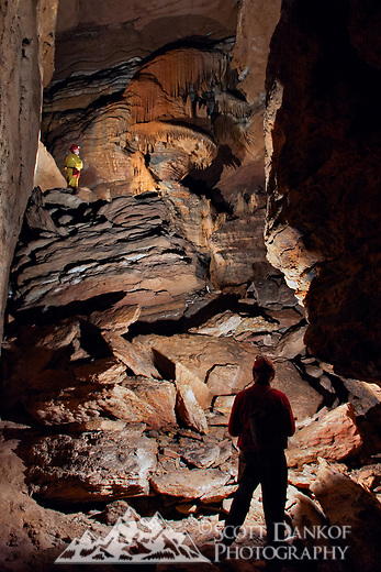 Large flowstone formation in an Arkansas cave.