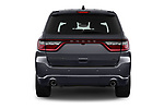 Straight rear view of a 2018 Dodge Durango R/T 5 Door SUV stock images