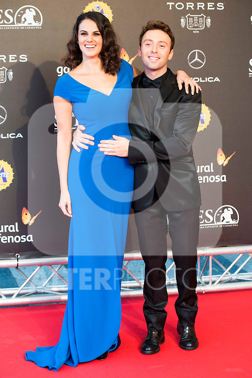 Melina Matthews and Dafnis Balduz during the red carpet of the opening ceremony of the Festival de Cine Fantastico de Sitges in Barcelona. October 07, Spain. 2016. (ALTERPHOTOS/BorjaB.Hojas)
