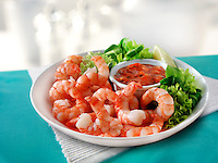 Cooked Tiger Prawns & Salad