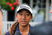 Zoe Campos (USA) after the practice round of the Augusta National Womans Amateur 2019, Champions Retreat, Augusta, Georgia, USA. 05/04/2019.<br /> Picture Fran Caffrey / Golffile.ie<br /> <br /> All photo usage must carry mandatory copyright credit (© Golffile   Fran Caffrey)
