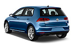Car pictures of rear three quarter view of a 2014 Volkswagen Golf SEL 5 Door Hatchback angular rear