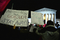 Supreme Court Gorsuch protest