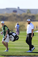 Shane Lowry (IRL) and caddy Dermot Byrne on the 5th hole during Saturday's Round 3 of the Waste Management Phoenix Open 2018 held on the TPC Scottsdale Stadium Course, Scottsdale, Arizona, USA. 3rd February 2018.<br /> Picture: Eoin Clarke | Golffile<br /> <br /> <br /> All photos usage must carry mandatory copyright credit (&copy; Golffile | Eoin Clarke)