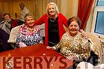 Eileen Cronin (Castleisland), Mary Sullivan (Curran) and Joan Brown from Scartaglin enjoying the  Sliabh Luachra Active Retired NetworkTea Dance in the River Island Hotel in Castleisland on Sunday