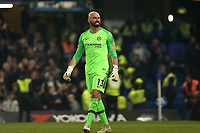 Wilfredo Caballero of Chelsea celebrates the victory after Chelsea vs Tottenham Hotspur, Premier League Football at Stamford Bridge on 27th February 2019