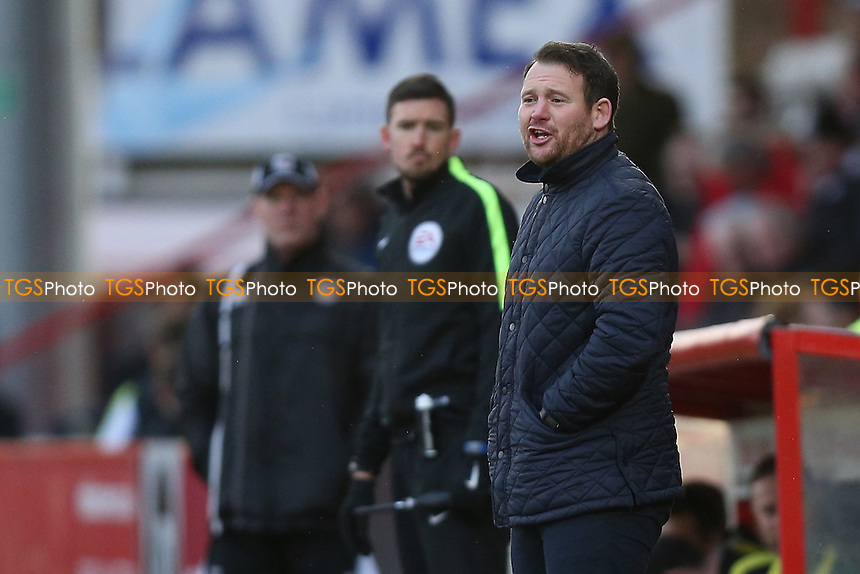 Stevenage manager Darren Sarll during Stevenage vs Grimsby Town, Sky Bet EFL League 2 Football at the Lamex Stadium on 28th January 2017
