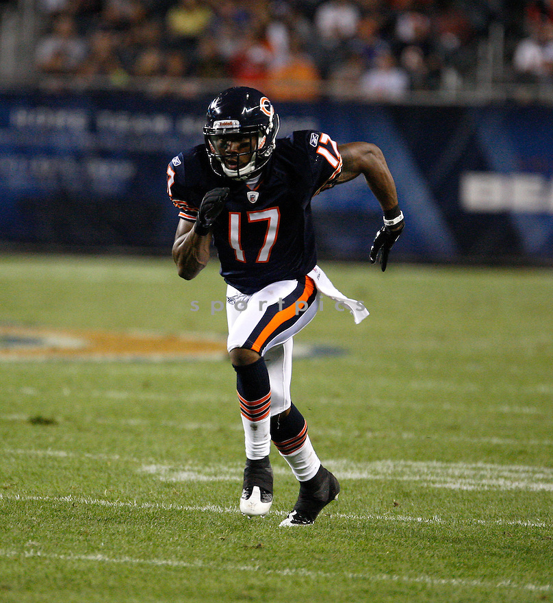 ONREA JONES, of the Chicago Bears in action during the Bears game against the Buffalo Bills on August 13, 2011 at Soldier Field in Chicago, IL. The Bears beat the Bills 10-3.
